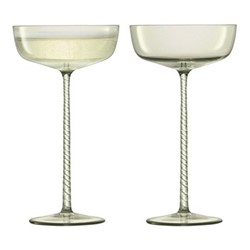 Champagne Theatre Pair of champagne saucers, 190ml, smoke grey