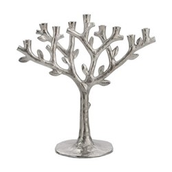 Tree Of Life Menorah, H29 x W13 x L29cm, silver