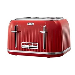 Impressions Toaster, 4 slot, red