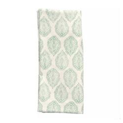 Leaf Set of 4 napkins, 45 x 45cm, green cotton