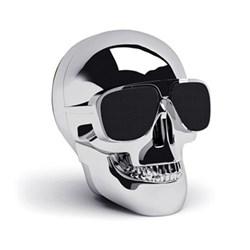 AeroSkull Nano Bluetooth speaker, H7.6 x W6 x D7.5cm, chrome silver