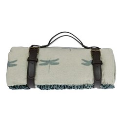 Dragonfly Knitted picnic blanket, 145 x 145cm