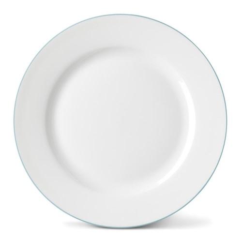 Rainbow Collection Side plate, 20cm, aqua rim