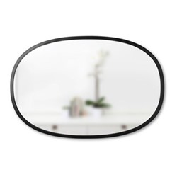 Hub Oval mirror, W91 x L60cm, black