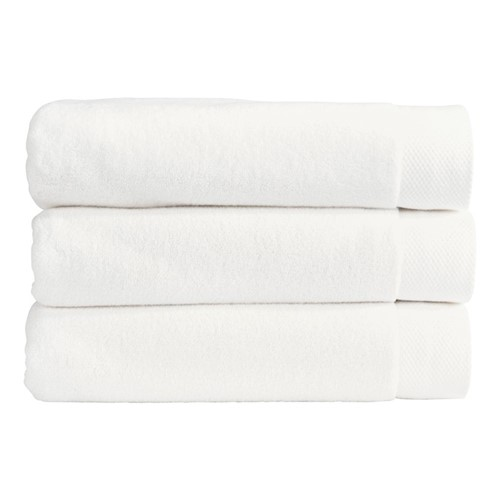 Luxe Pair of bath towels, 76 x 137cm, white