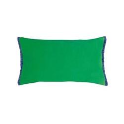 Fringe cushion, 50 x 30cm, emerald green