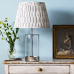 Wisteria Table lamp - base only, H39 x W15cm, nickel and clear glass