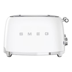 50's Retro 4 slice toaster - 4 slot, white