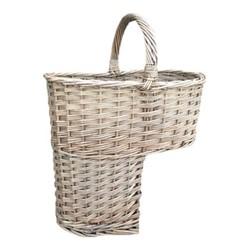 Stair Basket, H42 x W26.5 x L39cm, antique wash willow