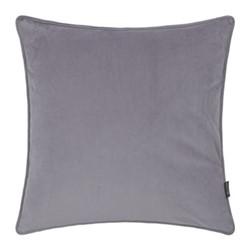 Velvet cushion, W45 x L45cm, grey