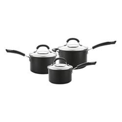 Total 3 piece saucepan set, hard anodized aluminium