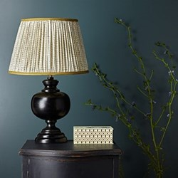 Venus Table lamp in wood - base only, H36 x W18cm, silvery black finish
