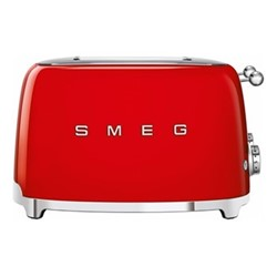 50's Retro 4 slice toaster - 4 slot, red