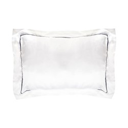 St Tropez Boudoir pillowcase, 30 x 40cm, white/navy