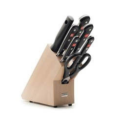 Classic Knife block set 7 piece, beech