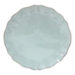 Alentejo Pair of round platter/ chargers, 33cm, turquoise