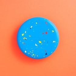 Terrazzo Jesmonite Trivet, L18 x W18cm, blue