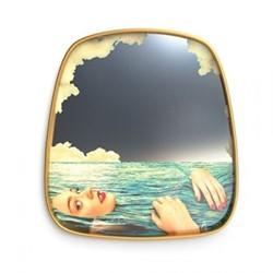Sea Girl Mirror, H59 x W54cm, Metallic