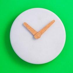 Plain & Simple Wall clock, D31.5 x H3cm, grey