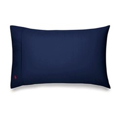 Player - 220 Thread Count Cotton Pair of standard pillowcases, W65 x L65cm, navy