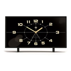 The Wideboy Alarm clock, H11.9 x W20.5 x D6.2cm, black