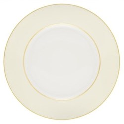 Sous le Soleil Dinner plate, 26.5cm, ivory with classic matt gold band