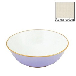 Sous le Soleil Open vegetable dish/salad bowl, 25cm, ivory with classic matt gold band