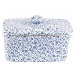 Felicity Rectangular butter dish, 400g, pale blue