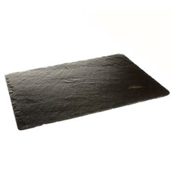 Pair of rectangular tablemats, 30 x 22cm, slate