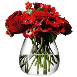 Flower Table bouquet vase, 17cm, clear