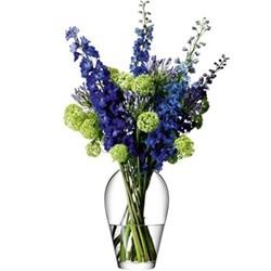 Flower Grand bouquet vase, 35cm, clear