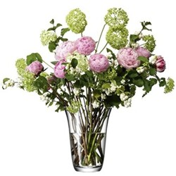 Flower Open bouquet vase, 23cm, clear