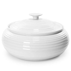 Ceramics Casserole low, 3.4 litre, white