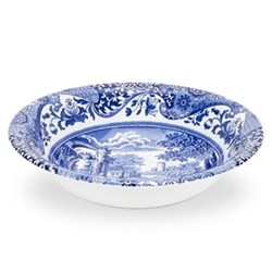 Blue Italian Set of 4 cereal bowls, 15cm