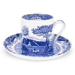 Blue Italian Set of 4 coffee cups and saucers, 20cl