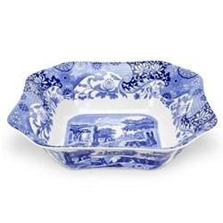Blue Italian Square salad bowl, 23.5cm