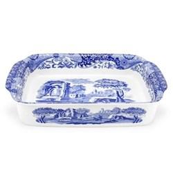 Blue Italian Rectangular dish, 38 x 30cm