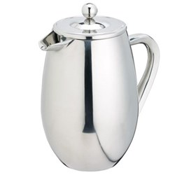 Le'Xpress Double walled coffee press, 8 cup, stainless steel