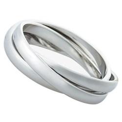3 Rings Set of 4 napkin rings, platinum