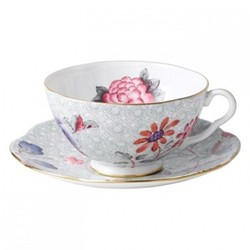 Harlequin Collection - Cuckoo Tea Story Teacup and saucer, 18cl, green