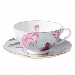 Harlequin Collection - Cuckoo Tea Story Teacup and saucer, 18cl, blue