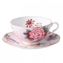 Harlequin Collection - Cuckoo Tea Story Teacup and saucer, 18cl, pink