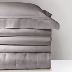 Triomphe Super king size fitted sheet, 180 x 200cm, platinum