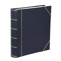 Classic Range Photograph album square with 70 leaves, 36cm, blue with gold corners