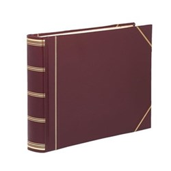 Classic Range Visitors book with plain pages, 22 x 28.5cm, burgundy with gold corners