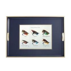 Traditional Range - Classic Salmon Flies Traditional tray, 55 x 39.5cm, Oxford blue