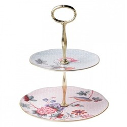Harlequin Collection - Cuckoo Tea Story 2 tier cake stand