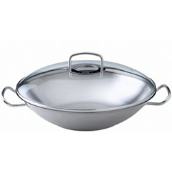 Original Profi Collection Wok with lid, 35cm, stainless steel