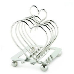 Amore Toast rack, H16 x L13cm, nickel plate