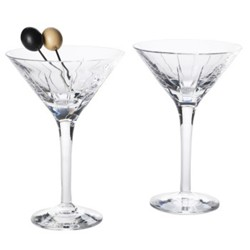 Trafalgar Single martini glass, crystal with vertical etchings
